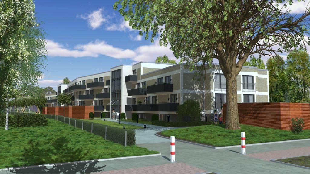Neubau eines Mietkomplexes für f + w Fördern und Wohnen