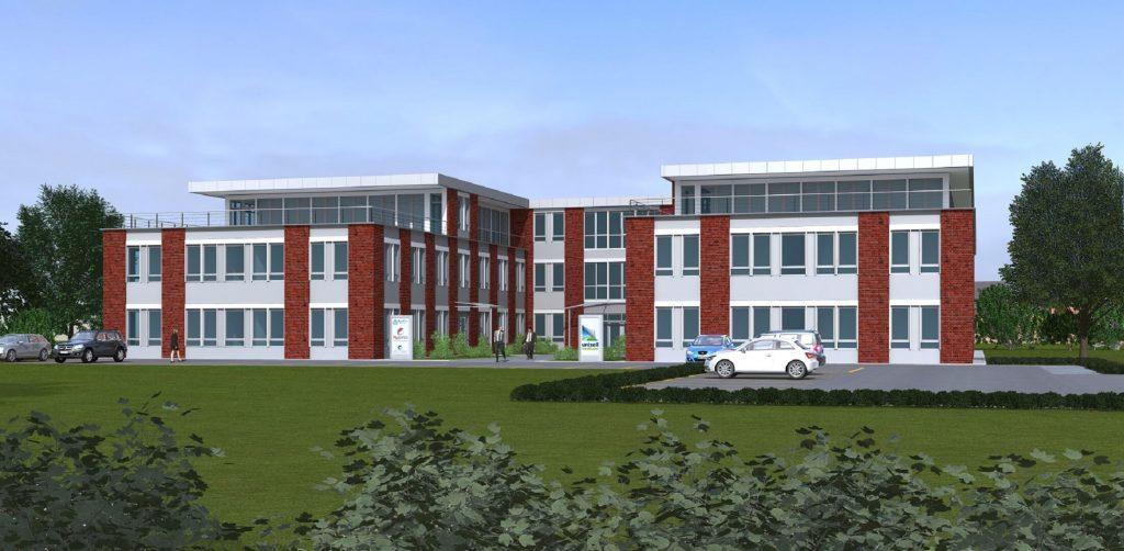 Neubau eines Bürogebäudes für UNIZELL